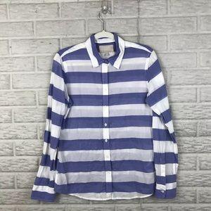Banana Republic Soft Wash Shirt Medium Striped